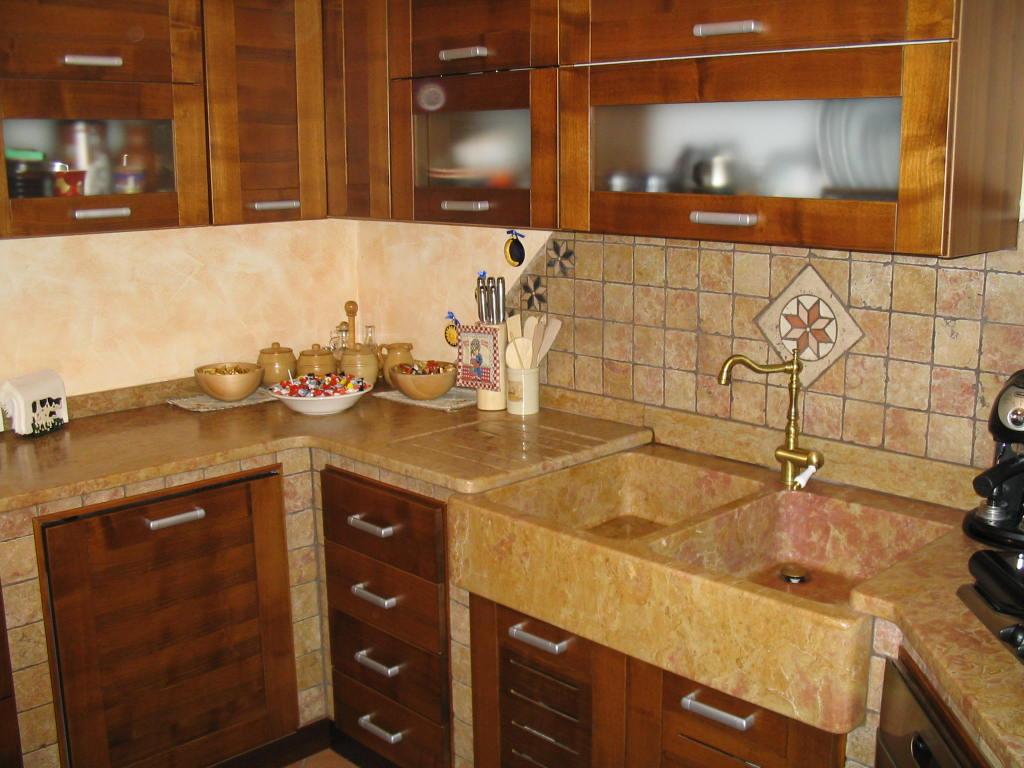 Cucina in muratura 1 stufe e camini catania stufe e for Cucine in muratura