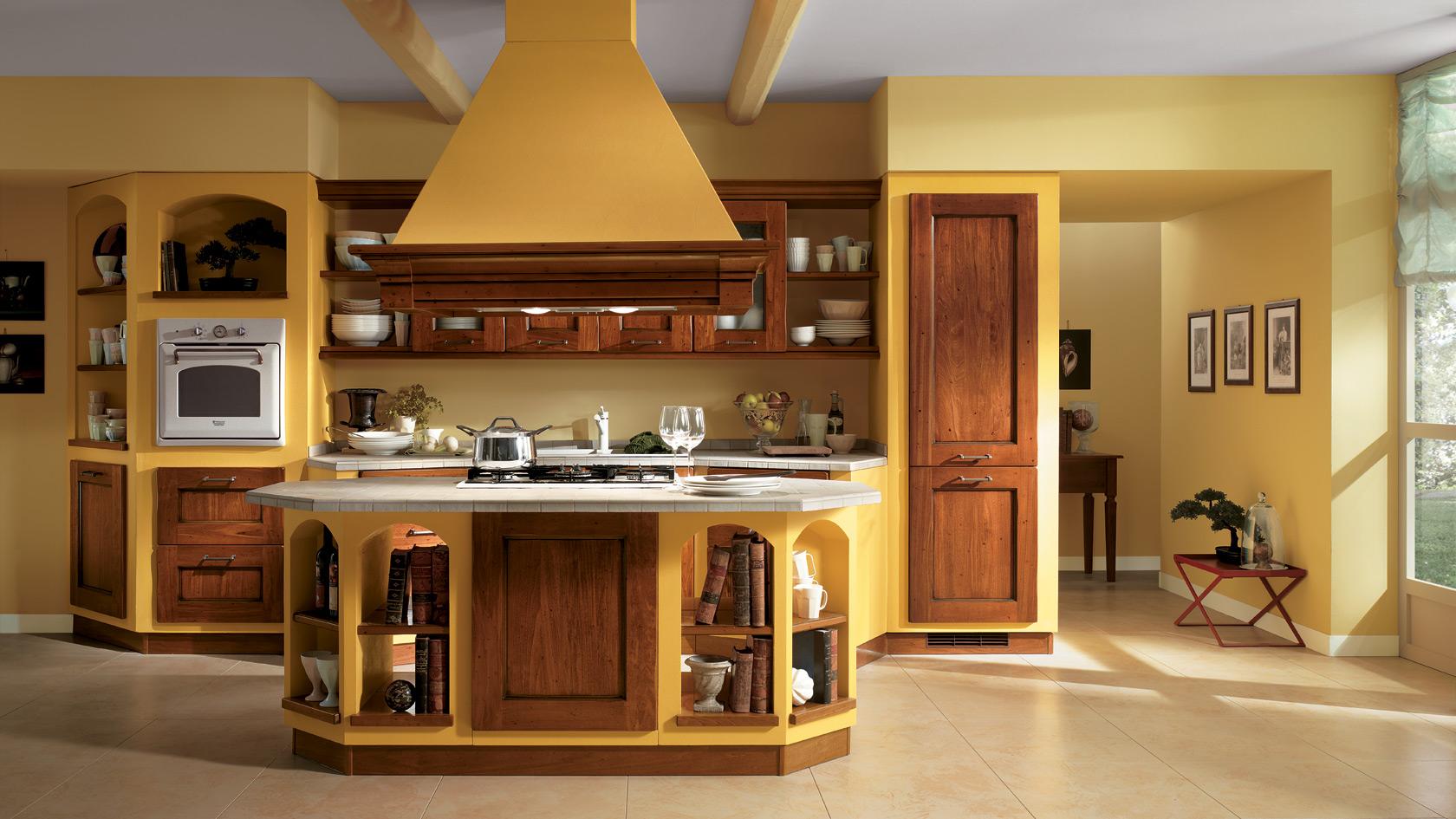Cucina In Muratura Rustica Con Forno A Legna. Trendy Cucina In ...